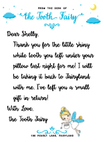 Tooth Fairy Letter Template Baton Rouge Parents Magazine