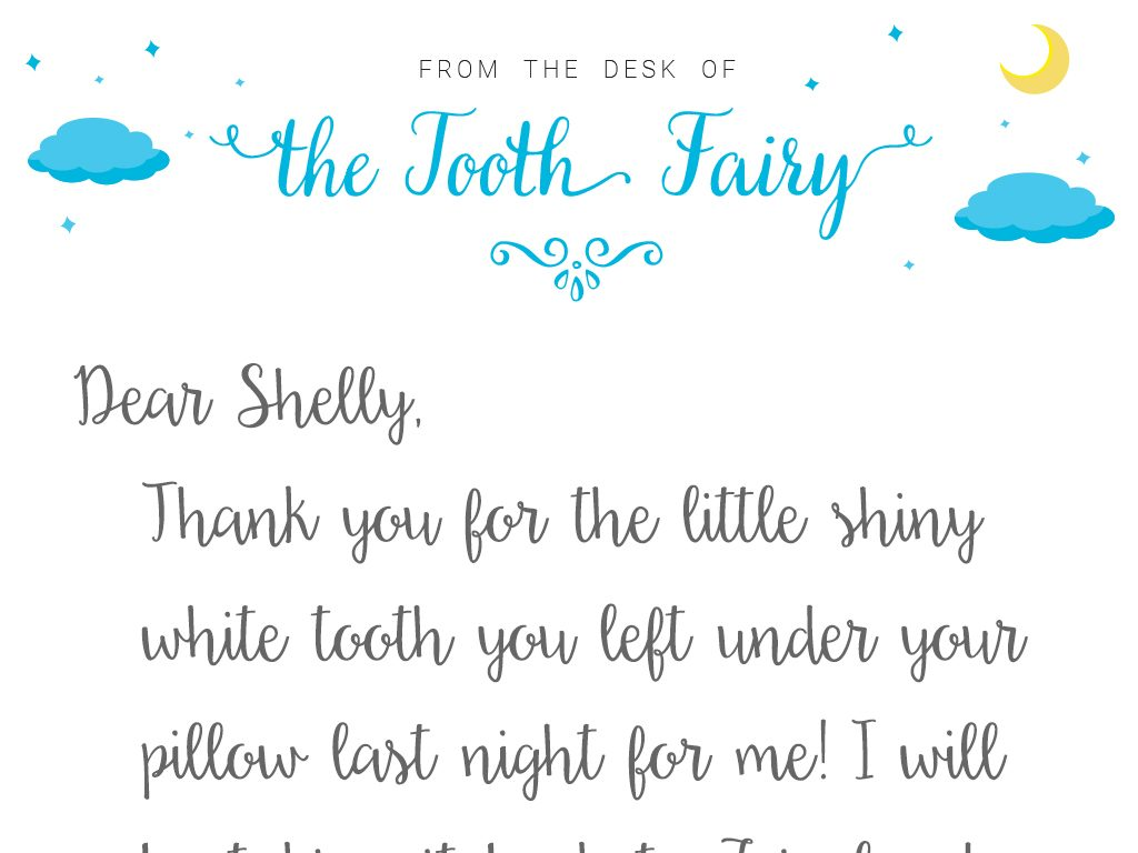 graphic relating to Tooth Fairy Letter Printable named Teeth Fairy Letter Template Baton Rouge Moms and dads Journal