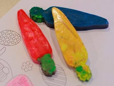 Carrot-Shaped Crayons