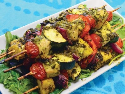 Chicken Kebabs with Chimichurri Marinade