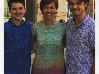 Nicole and her two sons, Corbin and Jackson (L to R)