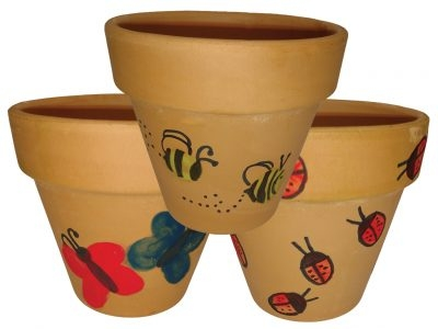 Thumbprint Flower Pots