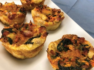 Savory Bread Pudding Muffins