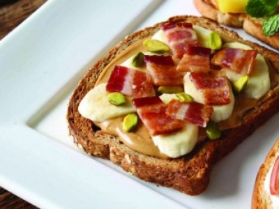 Bacon, Peanut Butter and Banana Toast