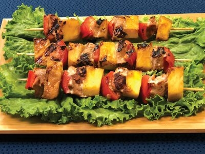 Teriyaki Salmon and Pineapple Skewers