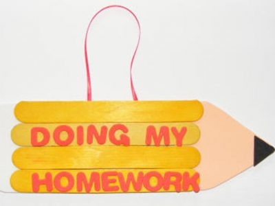 Pencil Homework Door Hangers
