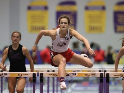Pedigo and Boucher Guide Eagles At LHSAA Indoor State Meet