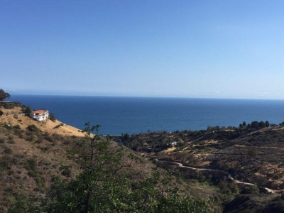 Malibu Pool House View of Topanga Canyon and Pacific Ocean