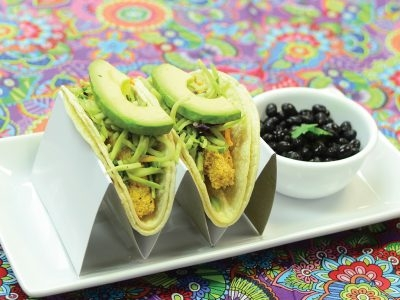 Homemade Fish Stick Tacos with Crunchy Slaw